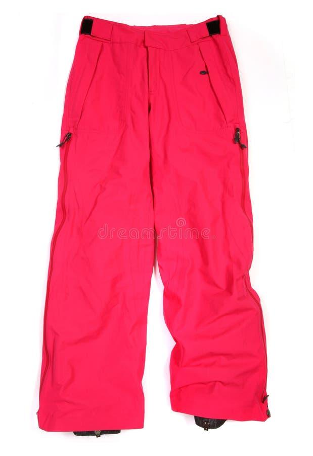Pantalones rosados del esquí fotografía de archivo