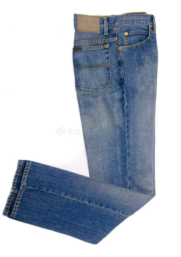 Pantalones vaqueros aislados en blanco fotografía de archivo