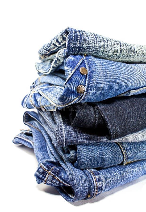 Pantalones vaqueros azules del dril de algodón foto de archivo libre de regalías