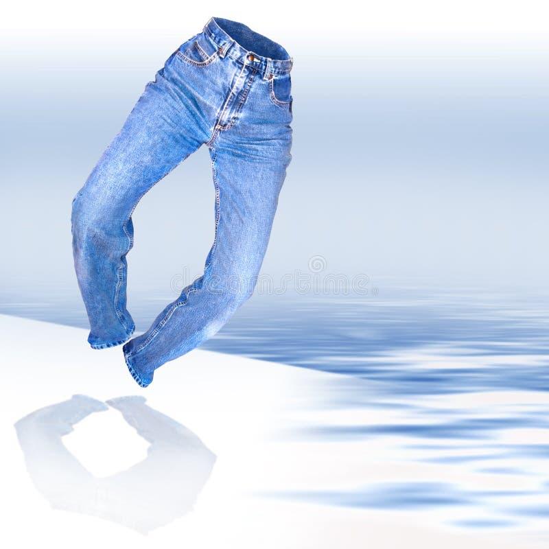 Pantalones vaqueros del dril de algodón con el camino del clip fotografía de archivo libre de regalías