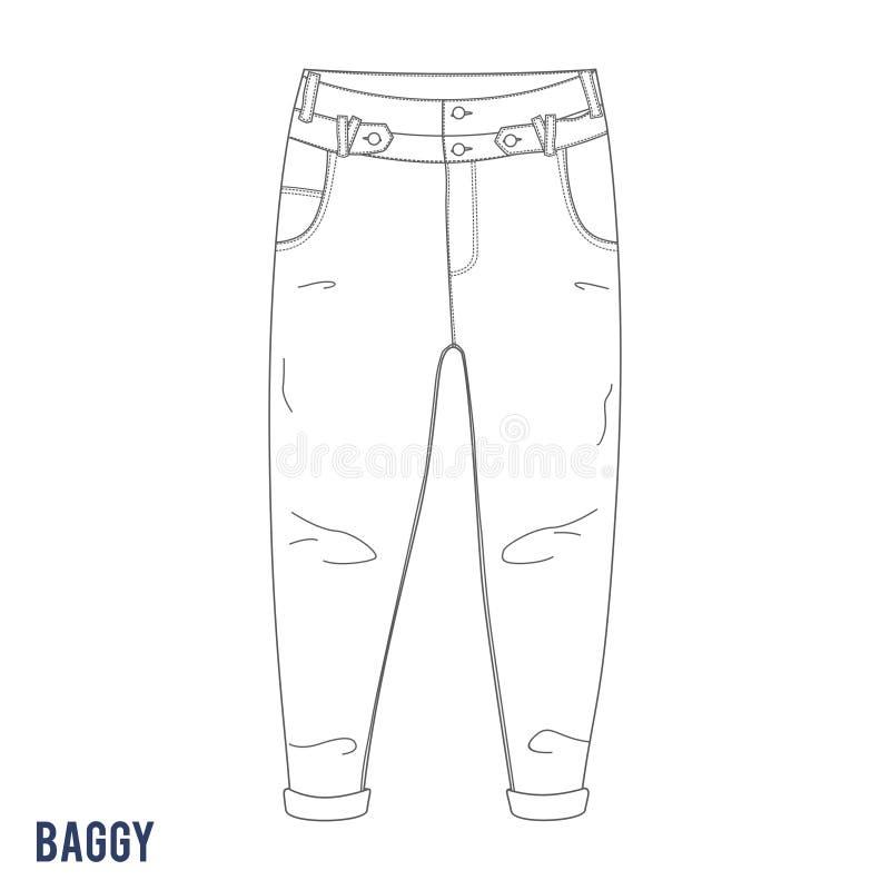 Pantalones vaqueros holgados libre illustration