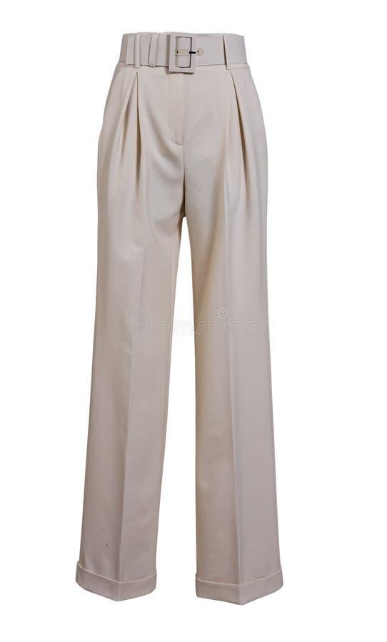 Pantaloni bianchi fotografie stock