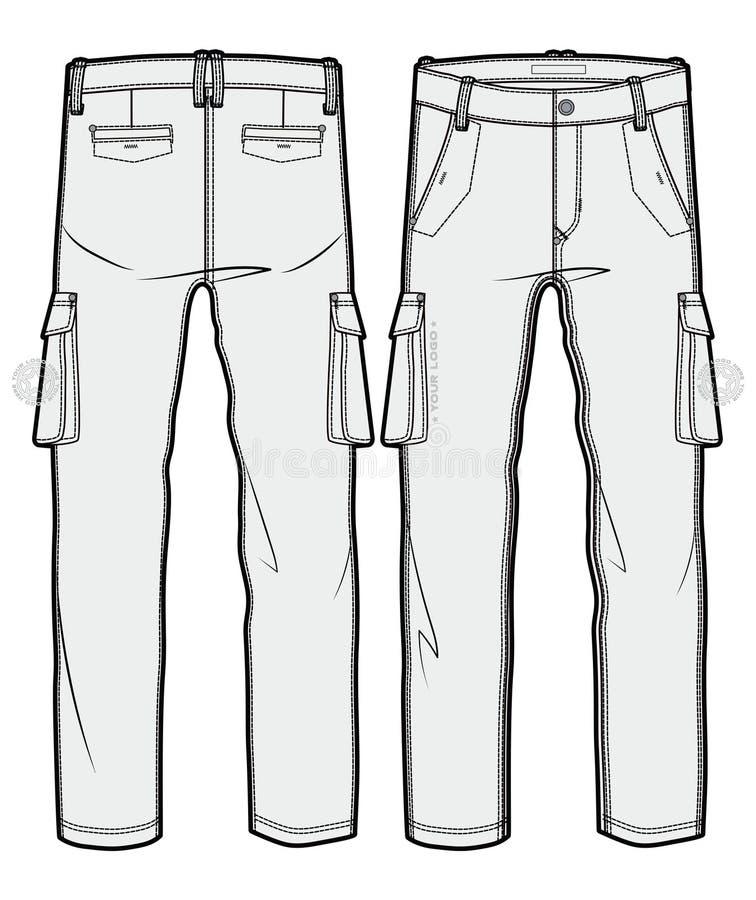 Pantaloni in bianco del carico illustrazione vettoriale