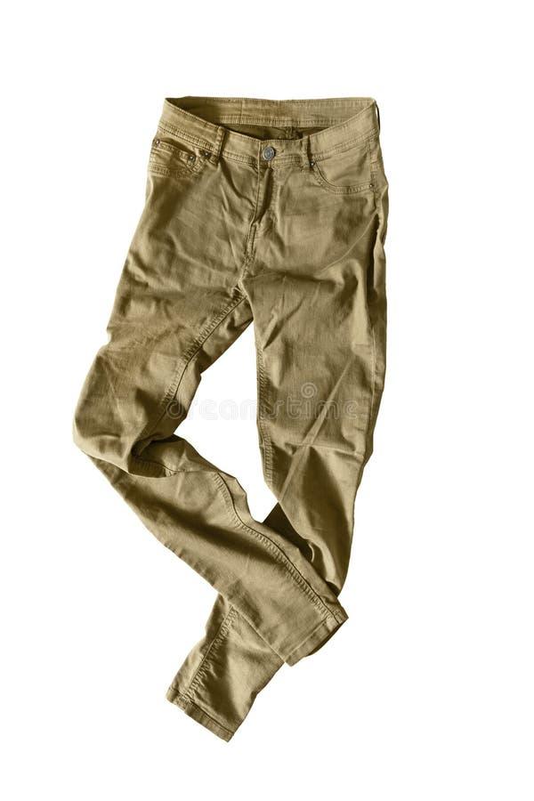 Pantaloni cachi fotografie stock