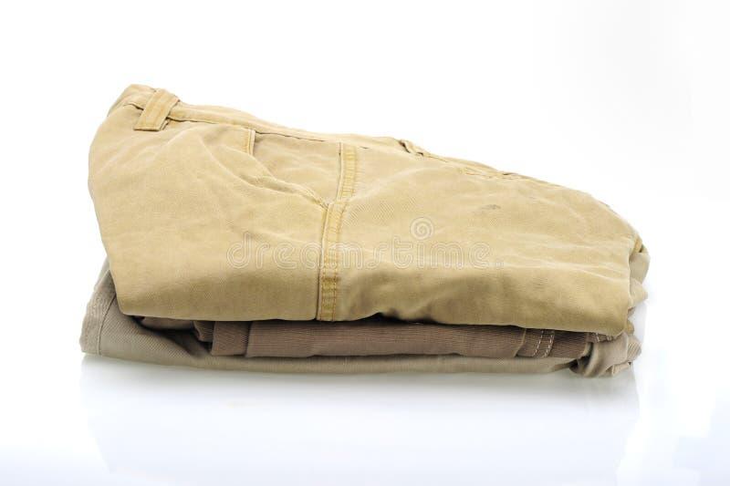 Pantaloni del cotone fotografia stock