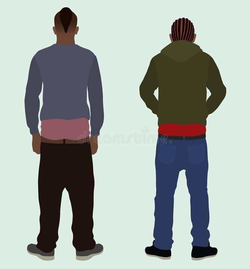 Pantaloni dell'incurvatura illustrazione di stock