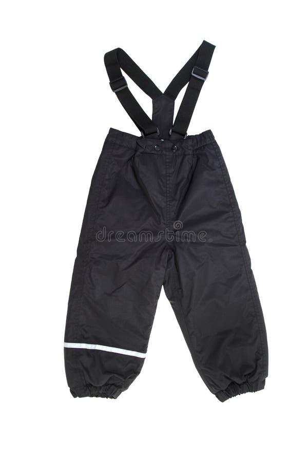 Pantaloni dello sci per i bambini isolati su bianco immagine stock libera da diritti