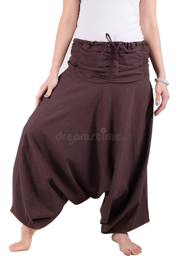 Pantaloni di Haram isolati sopra bianco immagini stock