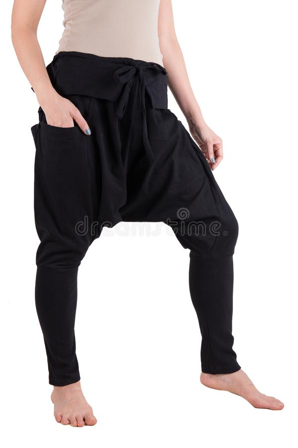 Pantaloni di Haram isolati sopra bianco immagine stock libera da diritti