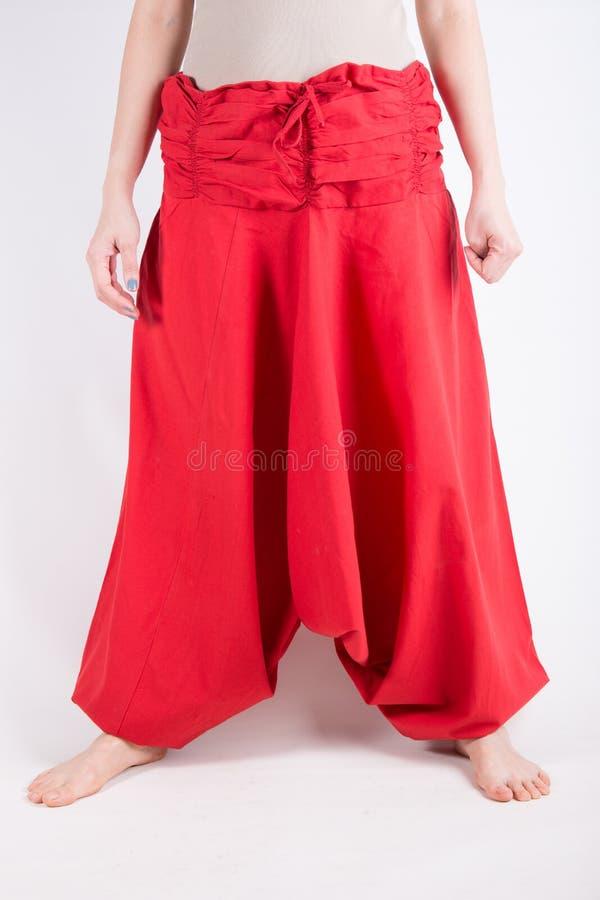 Pantaloni di Haram isolati sopra bianco fotografie stock