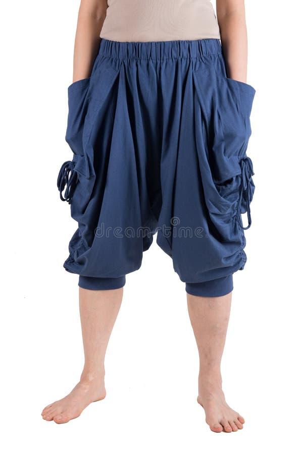 Pantaloni di Haram isolati sopra bianco immagini stock libere da diritti