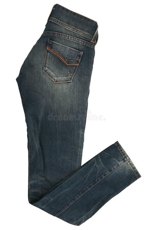 Pantaloni femminili dei jeans immagini stock libere da diritti
