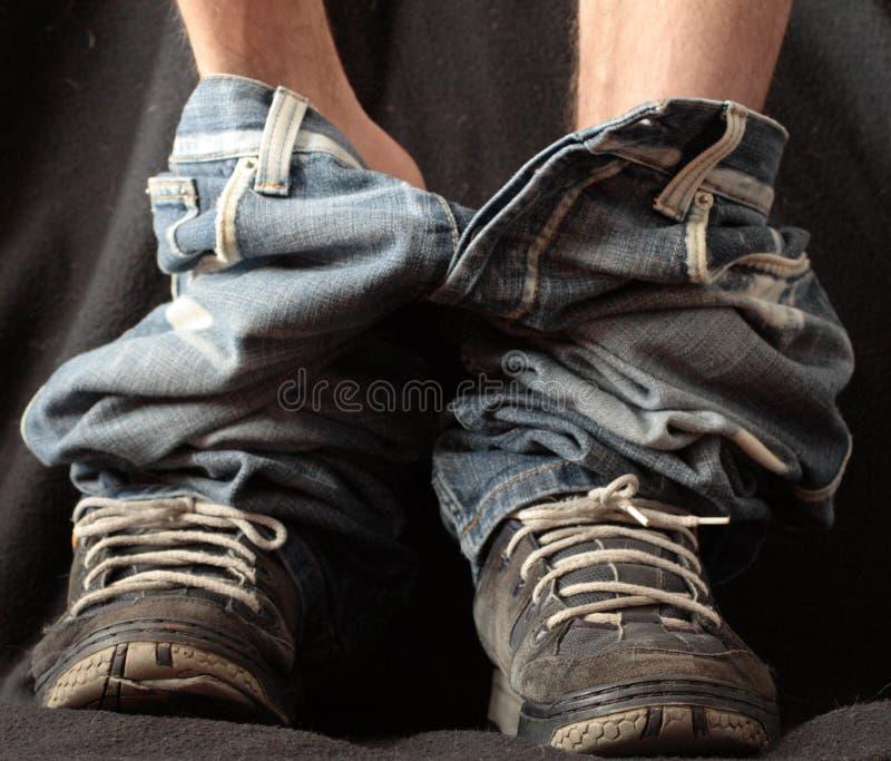 Pantaloni giù fotografia stock libera da diritti