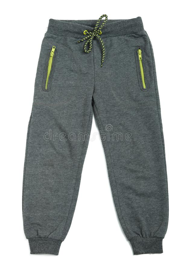 Pantaloni grigi di sport fotografia stock