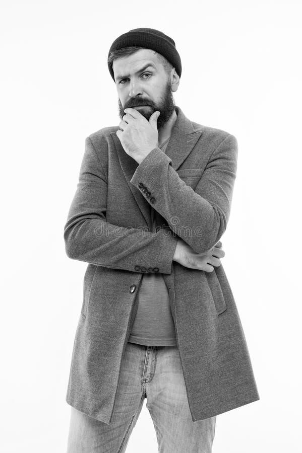 Pantaloni a vita bassa caucasici brutali con i baffi Uomo barbuto Cura maschio del barbiere Uomo di modo con la barba Pantaloni a immagini stock