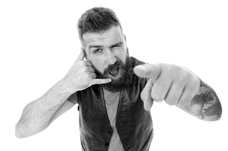 Pantaloni a vita bassa con la conversazione lunga di simbolo della barba Chiamata mobile Comunicazione su mezzi mobili Padrone ba fotografia stock libera da diritti