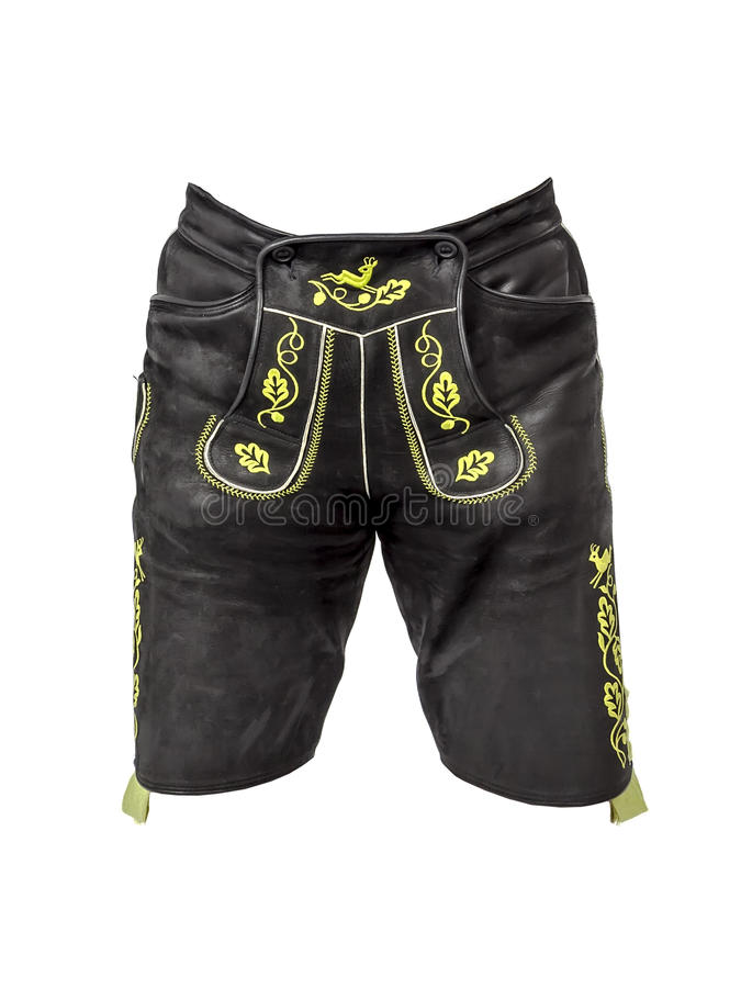 Pantalons bavarois de cuir de tradition photos libres de droits