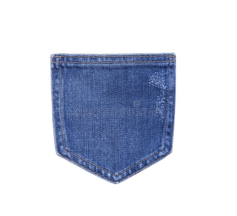 Pantalons de denim de poche photographie stock
