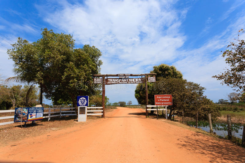 Pantanal entrance gate, Brazilian landmark stock photos