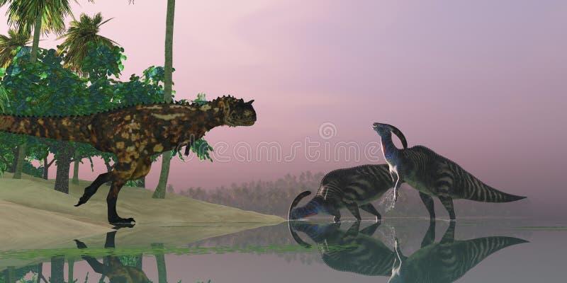 Pantano del dinosaurio stock de ilustración