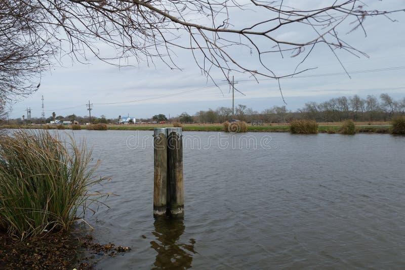 Pantano Lafourche, Luisiana foto de archivo
