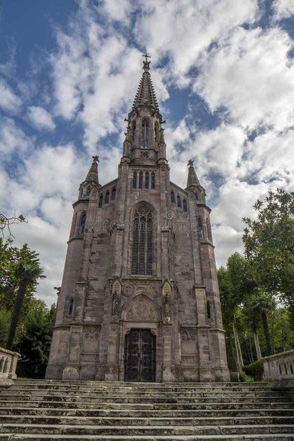 Panteão da capela de Marquis de Comillas, Espanha fotos de stock