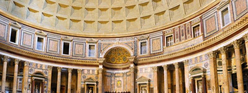 Panteão-dentro do interior em Roma, Italy. fotos de stock