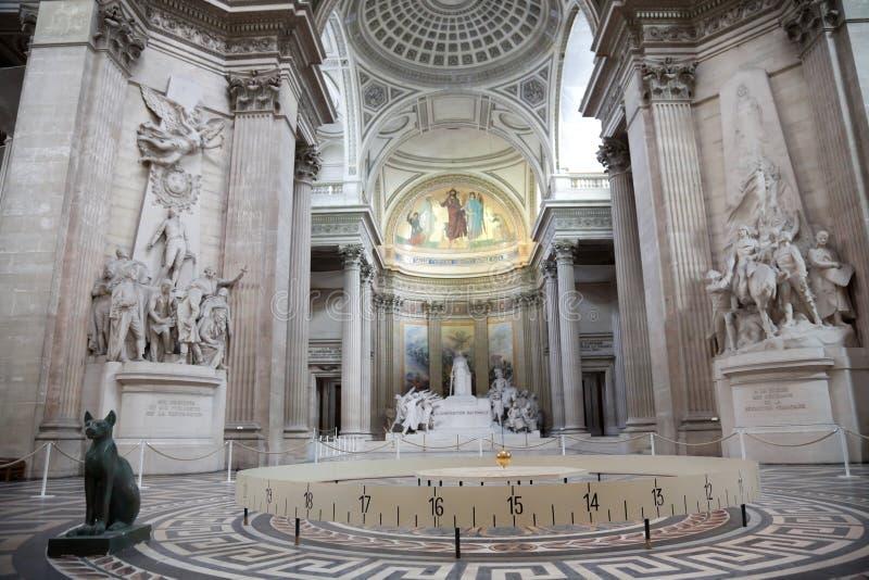 Panteão do interior de Paris foto de stock