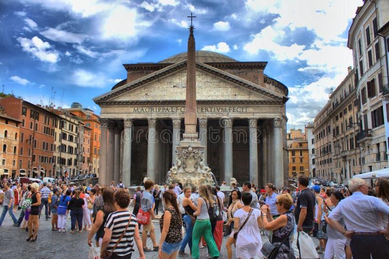 Panteão em Roma, Italy fotos de stock royalty free