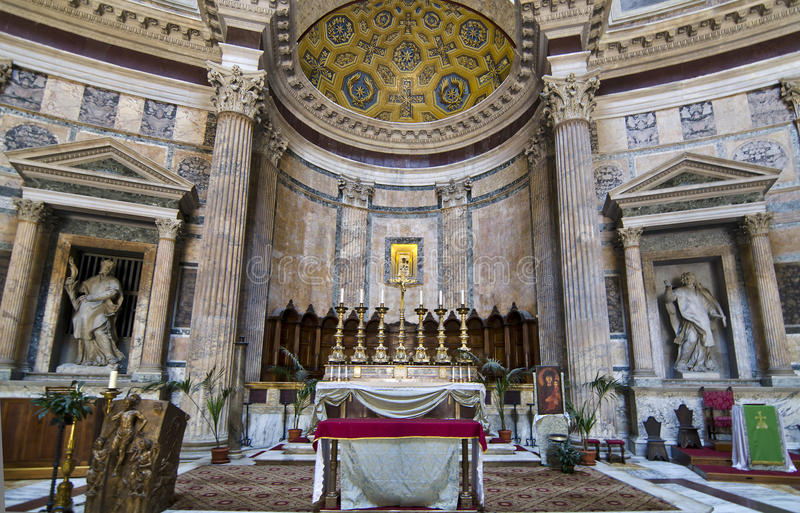 Panteão interno - Roma imagem de stock