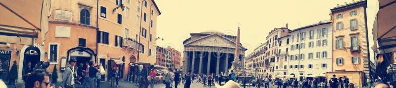 Panteão Roma quadrado imagens de stock