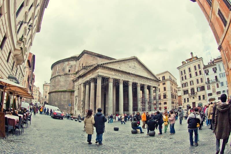 Panteão romano fotografia de stock