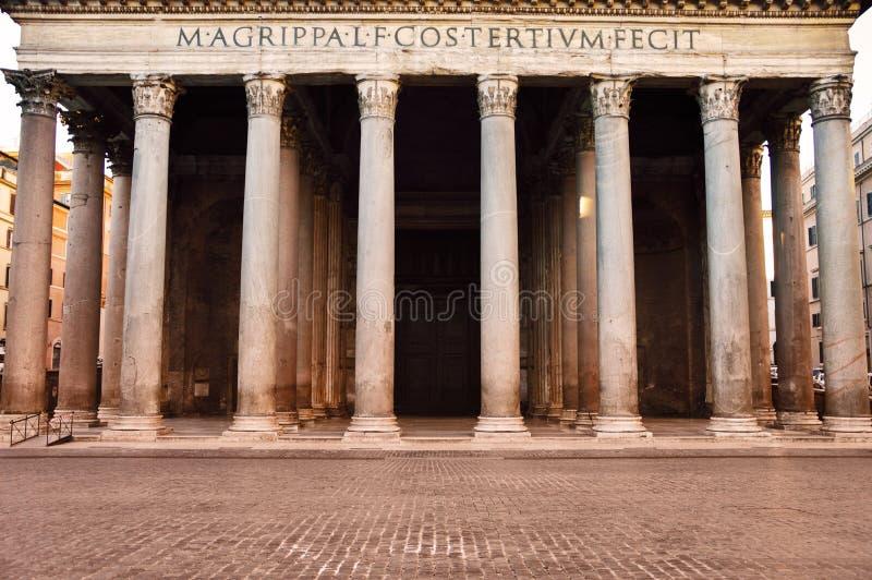 Panteón antiguo en Roma, Italia imágenes de archivo libres de regalías