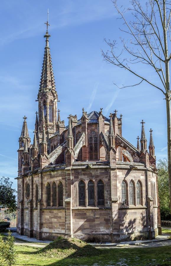 Panteón de la capilla de Marquis de Comillas, España fotografía de archivo libre de regalías