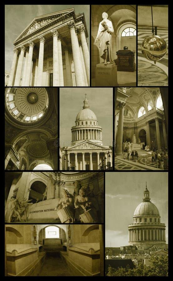 Panteón de París en grunge imágenes de archivo libres de regalías