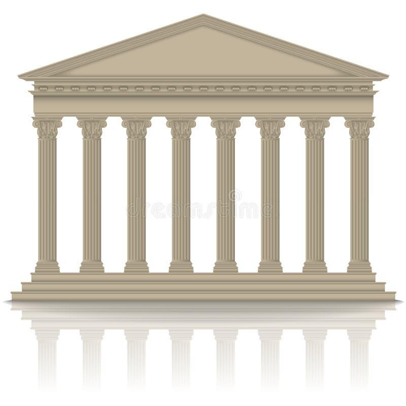 Panteón romano/griego stock de ilustración