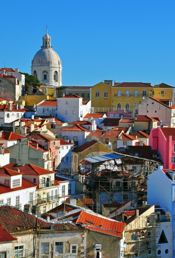 Panteón y Alfama de Lisboa fotografía de archivo libre de regalías