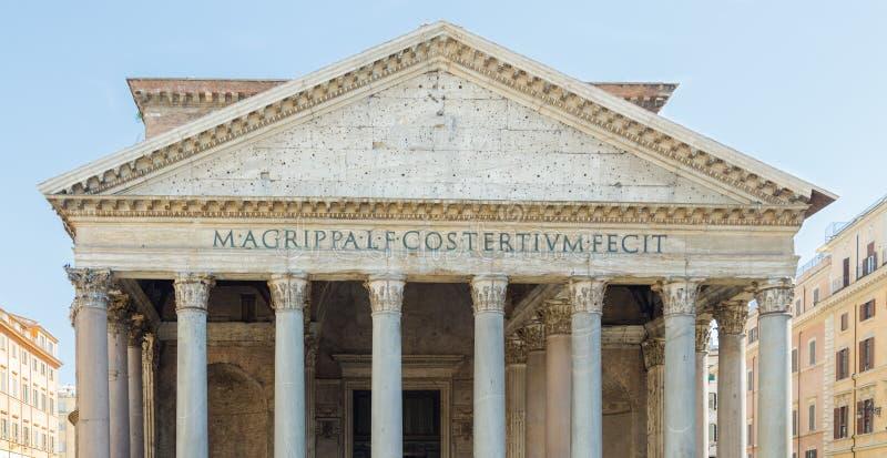 Panteon i Rome med blå himmel royaltyfria bilder