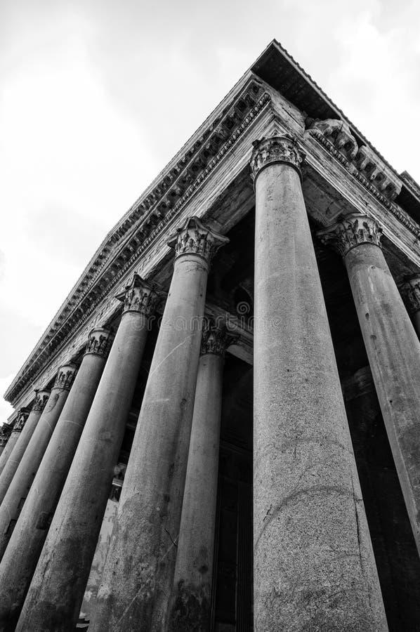 Panteon i svartvitt, Rome, Italien royaltyfria foton