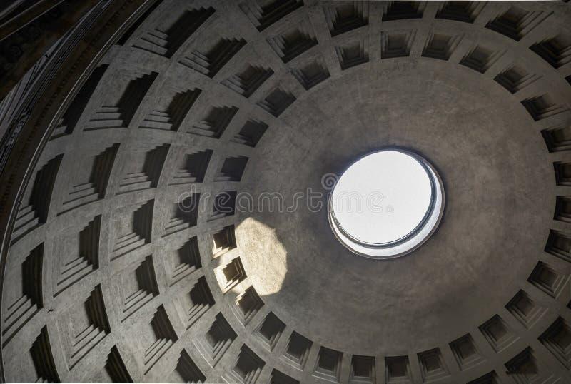 Panteon kopuła w Rome Italy zdjęcie stock