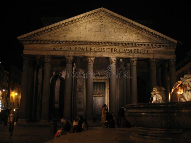 panteon noc zdjęcie royalty free