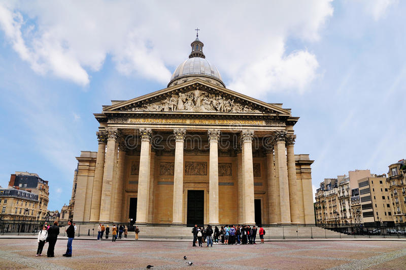 Panteon, Parigi immagine stock libera da diritti