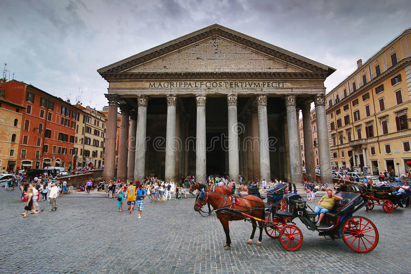 Panteon Rome royaltyfria bilder