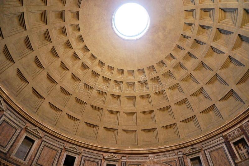 Panteonu sufit w Rzym, Włochy zdjęcia royalty free