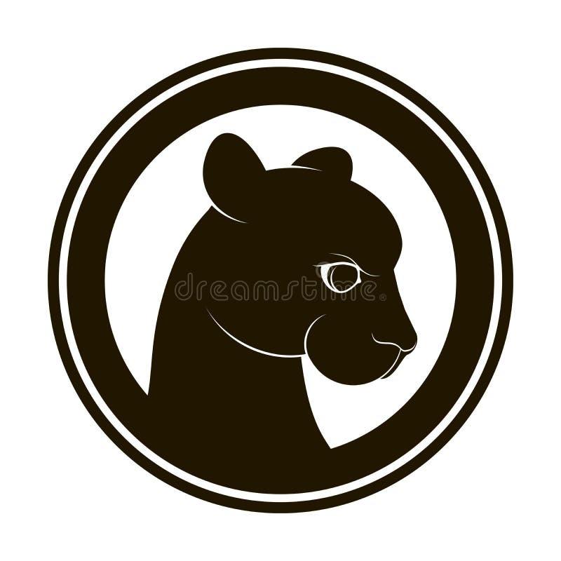 Panter-logo royaltyfri illustrationer