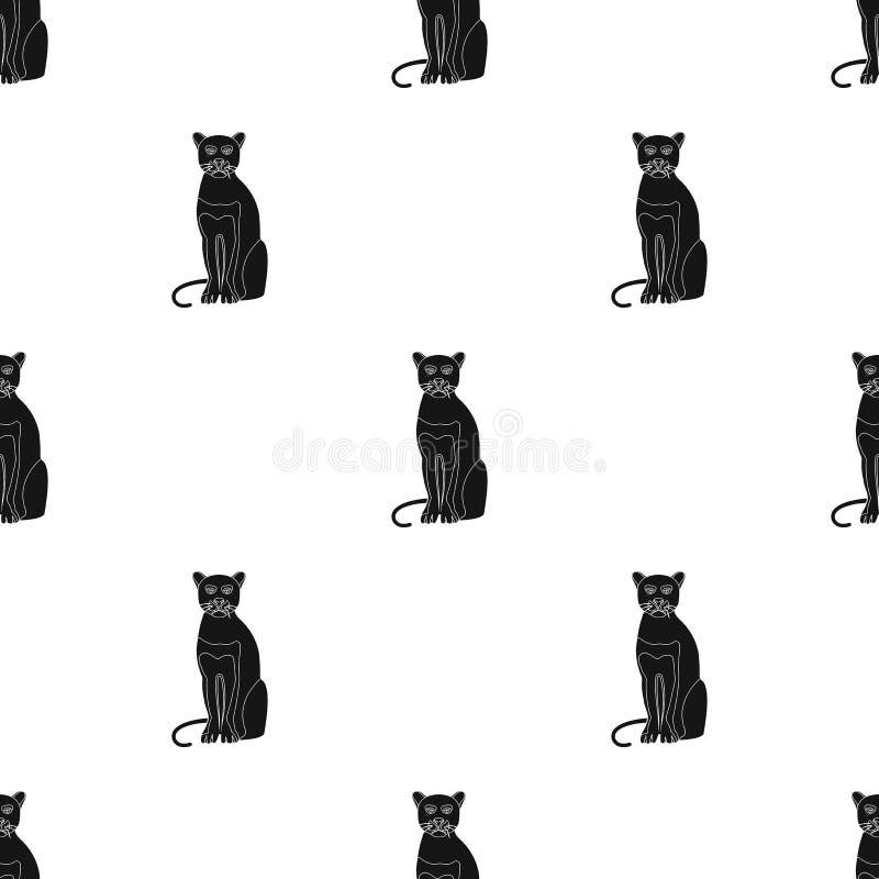 Panter rov- djur Pantera enkel symbol för lös katt i svart rengöringsduk för illustration för materiel för stilvektorsymbol royaltyfri illustrationer