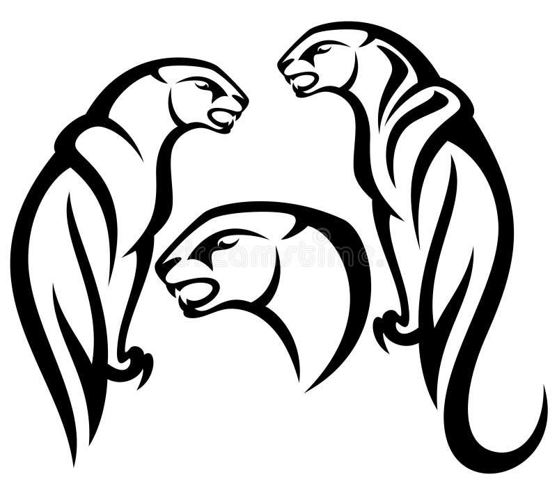 Pantera stock de ilustración