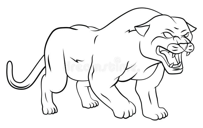 pantera libre illustration
