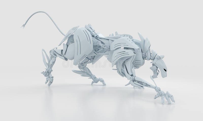 Pantera agresiva blanca fresca libre illustration