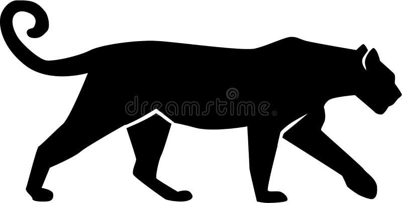 Pantera do gepard da silhueta do leopardo ilustração do vetor